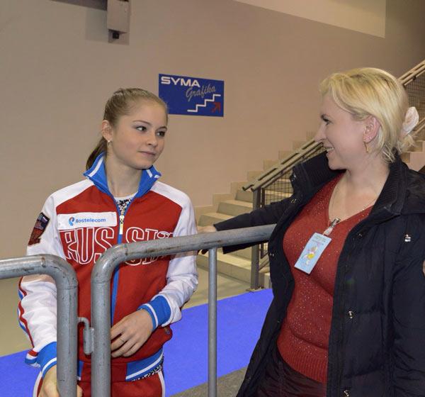 Юлия Липницкая с мамой Даниелой Леонидовной